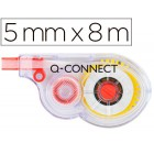 Fita correctora branca q-connect 5 mm x 8 mts. em blister