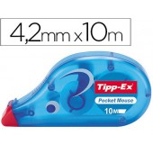 Corrector tipp-ex fita -pocket mouse 4.2 mm x 9 m.