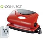 Furador q-connect. cap. 10-12 folhas - vermelho