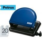 Furador metalico petrus 52. cap. 20 folhas - azul