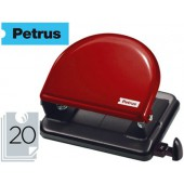 Furador metalico petrus 52. cap. 20 folhas - vermelho