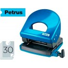 Furador petrus 62 wow azul metalizado capacidade 30 folhas