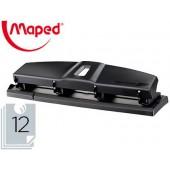 Furador maped essentials metal 4 furos capacidadee 12 folhas cor preto