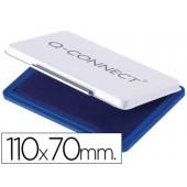 Almofada para carimbos q-connect n2 azul 110x70mm