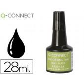 Tinta para almofada q-connect preto frasco de 28 ml