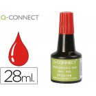 Tinta para almofada q-connect vermelho frasco de 28 ml