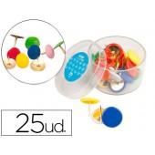 Pioneses liderpapel plastificadas caixa de 25 unidades cores sortidas