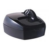 Porta-clips q-connect com roda magnetica giratoria preto
