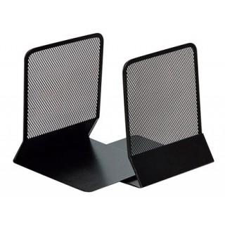 Apoia livros metalico q-connect kf15098 preto -conjunto -135x152x165 mm