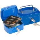 Cofre com bandeja para moedas q-connect 152x80x115 mm- azul