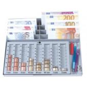 Tabuleiro liderpapel classificador de moedas e notas euro