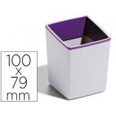 Copo porta lapis durable plastico cor cinza/roxo com base antideslizante 100x79x79 mm