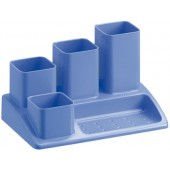 Organizador secretaria plastico offisys -1033 18x12x10 cm -5 departamentos azul opaco