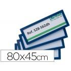 Moldura para identificação tarifold adesiva 80x45 mm azul pack de 4 unidades