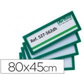 Moldura para identificação tarifold adesiva 80x45 mm verde pack de 4 unidades
