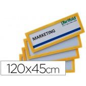 Moldura para identificação tarifold adesiva 120x45 mm amarela pack de 4 unidades