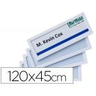 Moldura para identificação tarifold adesiva 120x45 mm branca pack de 4 unidades