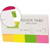Bandas separadoras q-connect pack de 4 cores fluorescentes