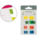 Bandas separadoras q-connect dispensador 4 cores 36 folhas por cor