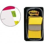 Bandas post-it index 3m. 25.4x43.1 mm. amarelo -dispensador de 50