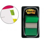 Bandas post-it index 3m. 25.4x43.1 mm. verde -dispensador de 50