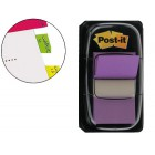 Bandas post-it index 3m. 25.4x43.1 mm. violeta -dispensador de 50