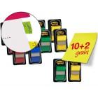 Bandas separadoras cores sortidos -pack promocional 10+2