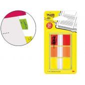 Bandas separadoras post-index 680-roy amarelo vermelho y laranja dispensador bolsa 3x20