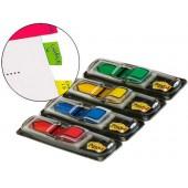 Bandas post-it index . 4 coresazul. amarelo. verde. vermelho
