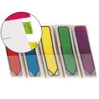 Bandas post-it index . setasdispebsador azul. amarelo. verde. vermelho