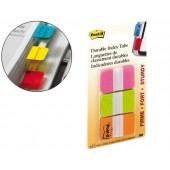 Bandas post-it index . 3 cores rosa. verde e laranja