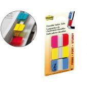 Bandas post-it index . 3 cores vermelho. amarelo. azul
