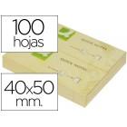Bloco de notas adesivas q-connect amarelo 40 x 50 mm