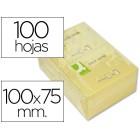 Bloco de notas adesivas q-connect amarelo 75 x 100 mm