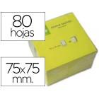 Bloco de notas adesivas q-connect amarelo fluo.75x75mm