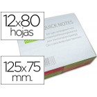 Bloco de notas adesivas q-connect fluoresc. 75 x 125 mm