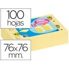 Bloco de notas adesivas quita y pon post-it 76x76mm -pack promocional 24+12