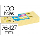 Bloco de notas adesivas post-it 76x127 mm -pack promocional 24+12