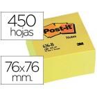 Bloco de notas adesivas post-it 76 x 76 x 45 mm