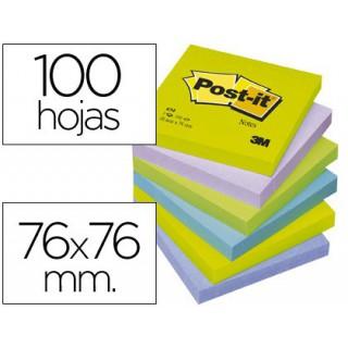 Bloco de notas adesivas post-it intenso 76 x 76 mm