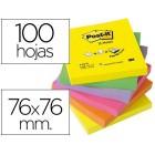 Bloco de notas adesivas post-it sortido. 76 x 76 mm