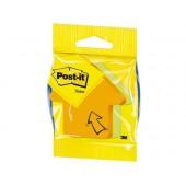 Blister notas adesivas flecha amarelo. laranja e rosa