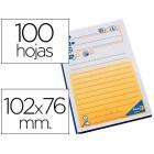 Bloco notas adesivas pre impressas 102x76mm