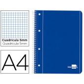 Caderno espiral liderpapel capa azul 80 fls.a4 quad
