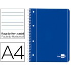 Caderno espiral liderpapel capa azul 80 fls.a4 paut