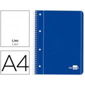 Caderno espiral liderpapel capa azul 80 fls.a4 liso