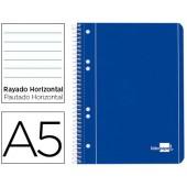 Caderno espiral liderpapel capa azul 80 fls.a5 paut