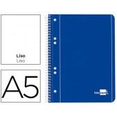 Caderno espiral liderpapel capa azul 80 fls.a5 liso