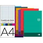 Caderno espiral liderpapel a4 micro discover capa cartao 80f 80g cuadro 5mm dupla margem 4 furos cores sortidas