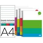 Caderno espiral liderpapel a4 micro dream capa extradura 140 f 80g horizontal 5 bandas 4 furos cores sortidas